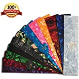 DIY Guitar Pick Punch Sheets - 25 Pcs - Musicians Recommended Light, Medium and Heavy Celluloid Guitar Pick Strips - 12 Stunning Colors to Create Customized Guitar Picks with Any Picks Maker