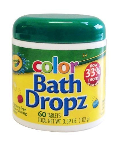 Play Visions Crayola Bath Dropz 3.59 oz,60 TABLETS Model: - 1