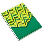 3x4 Green Chevron Pocket Notepad
