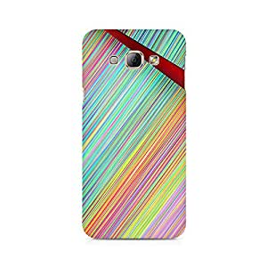 Mobicture Broken Abstract Lines Premium Printed Case For Samsung A8