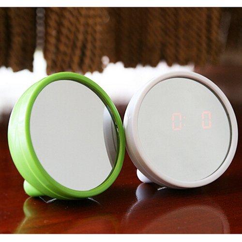 Coffled® Magical Digital Beauty Makeup Compact Mirror Led Alarm Clock Time Display