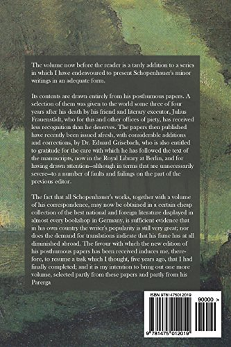 the essays of arthur schopenhauer the art of controversy Essays of arthur schopenhauer: the art of controversy, the [arthur schopenhauer] on amazoncom free shipping on qualifying offers includes the following essays: the art of controvery, on.