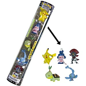 Pikachu, Turtwig, Weavile, Mime Jr., Manaphy - Jakks Pacific Pokemon 5 Mini-Figure Set