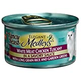 Fancy Feast Elegant Medleys for Cats, White Meat Chicken Tuscany in Savory Sauce, 3-Ounce Cans (Pack of 24) ~ Fancy Feast