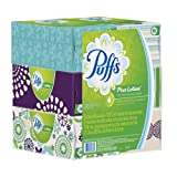 Puffs Plus Lotion Facial Tissues; 6 Family Boxes; 124 Tissues per Box
