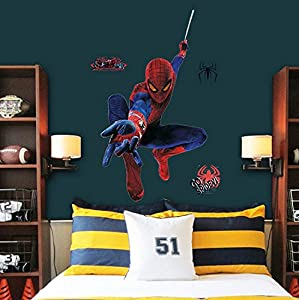Huge Large Spiderman Wall Stickers Children Boys Bedroom Decal art Mural D¨¦cor from WALL ART DECAL