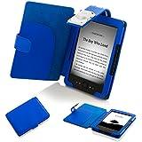 ForeFront Cases® Kindle 4 September 2012 (Nicht-Touchscreen) Hülle / Schutzhülle Synthetik mit LED LICHT - für den neuen AMAZON KINDLE (4) WLAN, 15 cm E Ink Display, Schwarz - 5TH GENERATION - Case Cover mit Leselampe