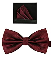 Tieworld Men's Formal Tuxedo Banded Pre-Tied Bow Tie Set