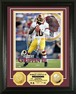 NFL Washington Redskins Robert Griffin III Gold Coin Photo Mint by Highland Mint