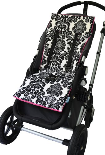 Tivoli Couture Nu Comfort Memory Foam Stroller Pad And Seat Liner, Damask front-66160