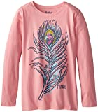 Life is good Girl's Easy Long Sleeve Fresh Feather T-Shirt (Blush Pink), X-Large