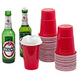 Rote-Partybecher-Trinkbecher-100-Stck-16-oz-Rote-Beer-Pong-Party-Cups-Einwegbecher