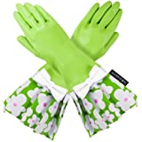 LIME GREEN GLOVEABLES, GREEN FLOWER TRIM, WHITE BOW
