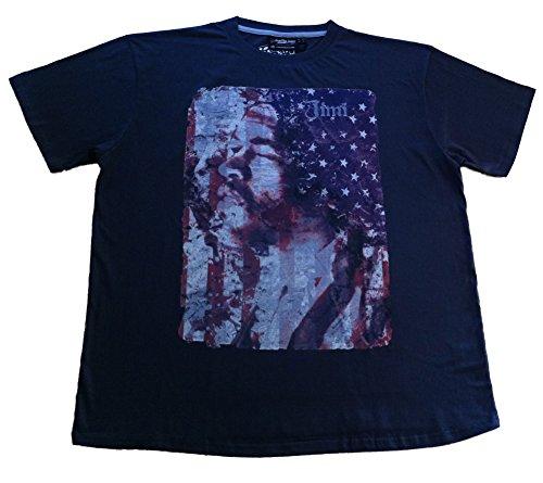 Replika Jeans Jimi Hendrix maglietta, grigio 3X L-6x l Grey XXXX-Large