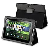 eForCity PU Leather Flip Pouch Skin Case Cover w/ Stand Compatible with Blackberry Playbook, Black