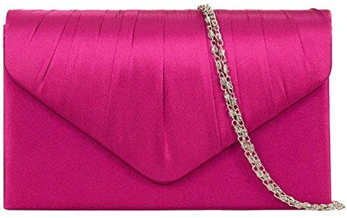 Eleoption-Damen-Clutch-klassische-Abendtasche-se-Handtasche-Pink