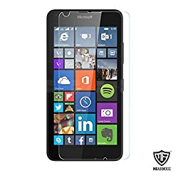 MoArmouz Go - Tempered Glass For Lumia 640 Clear Glass by MoArmouz- 9H Hardness Screen Guard / Tempered Glass Screen Protector Scratch Guard for Microsoft Lumia 640 HD Clear Tempered Glass Screen Protector