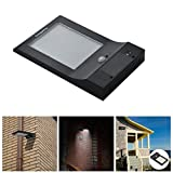Cozypony 2060783 850 lm 48 LED Solar Powered Motion Lights Ultra-Slim Wireless Solar Garden Porch Pathway Wall Lights/Street Lighting/Outdoor Lights/Motion Security Light