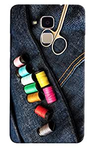 Omnam Colorful Thread Lying On Jeans Printed Designer Back Cover Case For Huawei Honor 5C