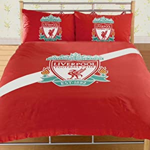 Stripe Crest Double Duvet Cover from Liverpool FC