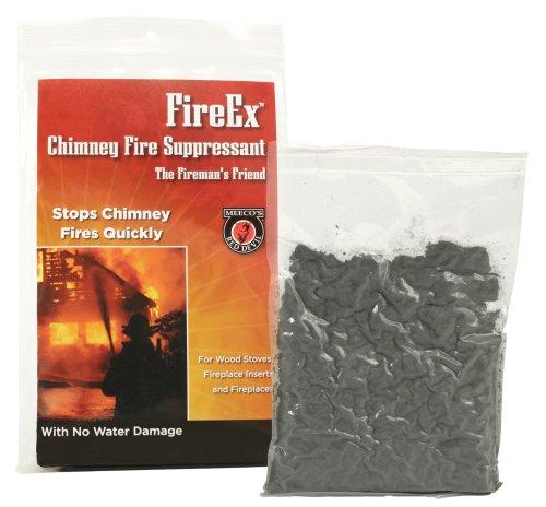 Chimney fire suppressant