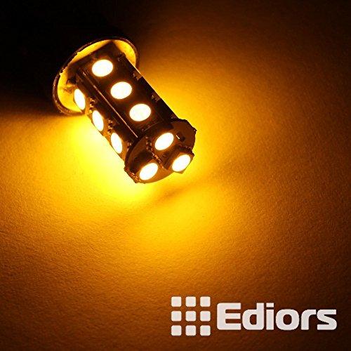 Ediors Pack Of 2 18 Led 5050 Smd 9006 Hb4 Car Automotive Fog Driving Light Lamp Bulb Amber/Yellow Dc 12V