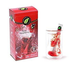 Serengeti Tea 2 Piece Ruby Raspberry Tea Box and Double Wall Cup Set