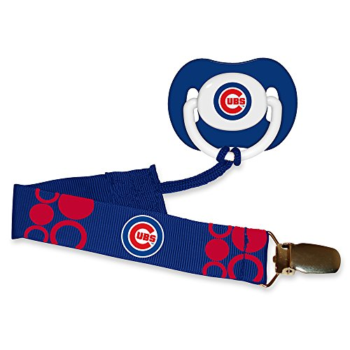 Baby Fanatic Pacifier with Clip - Chicago Cubs - 1