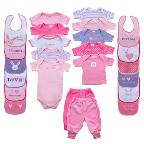Baby 24-Piece Outfit Gift Cube Pink 0-6M