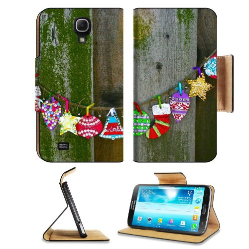Christmas Streamers Rustic Holiday Wood Samsung Galaxy Mega 6.3 I9200 Flip Case Stand Magnetic Cover Open Ports Customized Made To Order Support Ready Premium Deluxe Pu Leather 7 1/16 Inch (171Mm) X 3 15/16 Inch (95Mm) X 9/16 Inch (14Mm) Msd Mega Cover Pr