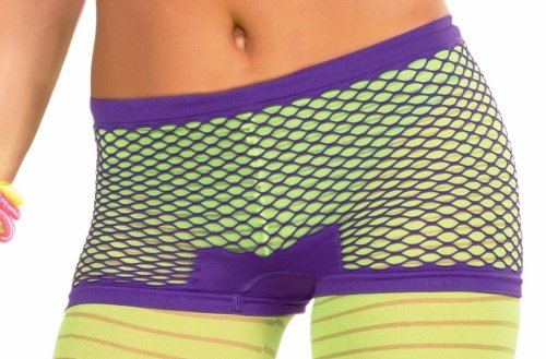 Forum Club Candy Neon Fishnet Costume Shorts