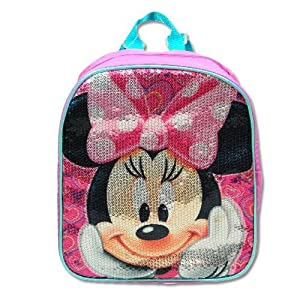 Disney Minnie Mouse Toddler 10 Sequin Mini Backpack by Disney