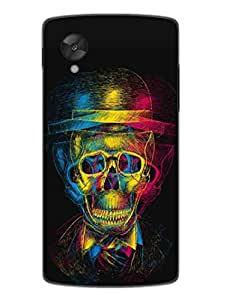 Gothic Drunk Skull - Hard Back Case Cover for Nexus 5 - Superior Matte Finish - HD Printed Cases and Covers