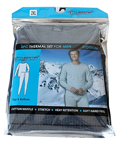 therma-tek-formerly-comfort-fit-winter-mens-thermal-100-cotton-top-bottom-2-pcs-set-gray-2xl