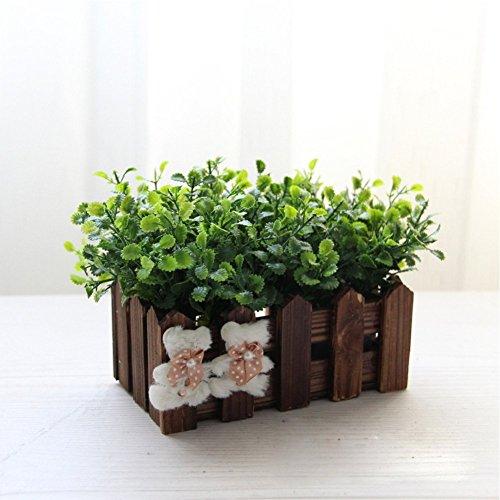life-upr-maceta-de-madera-hierba-de-menta-artificial-floral-planta-plantador-16cmdecoracion-interior