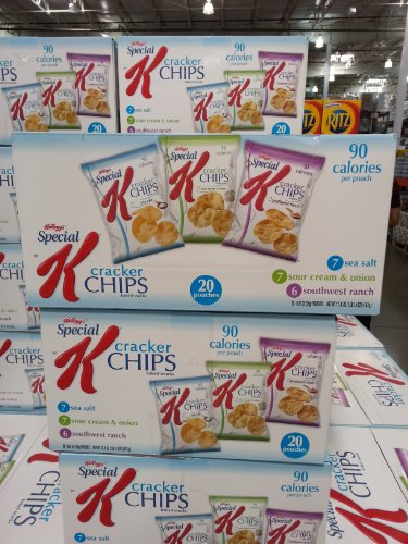Kellogg's Special K Baked Cracker Chips 0.87 oz (25g) Bags 90 Calories each Snack, Variety Pack (Case of 20)