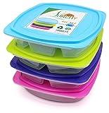 Lunchbox Set 4 Stück Bento Box Brotzeitbox auslaufsicher...