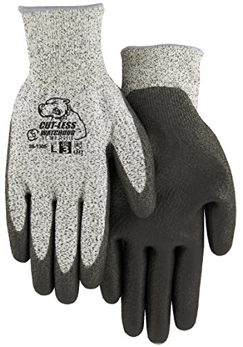 Majestic 35-1305 Hppe Cut-Less Watchdog Cut Resistant Gloves Pu Palm Dip Cut 3. Form-fitted and Extremely Comfortable Allows for Great Dexterity on Job (Large)