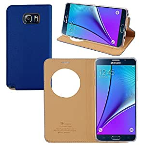 Samsung Galaxy Note 5 T-Cases Premium PU Leather Magnetic Flip Case Cover(Blue)