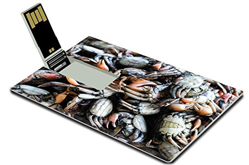 Liili 32GB USB Flash Drive 2.0 Memory Stick Credit Card Size IMAGE ID: 8512427 the huge amount of small salty crab in thai style cooking (Thai Micro Crab compare prices)
