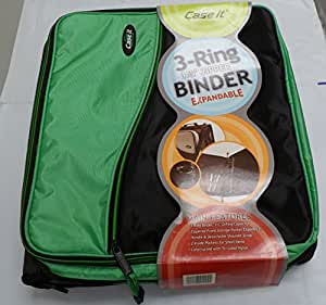 """Case It 3 Ring Binder, 1 1/2"""", Expandable,"""