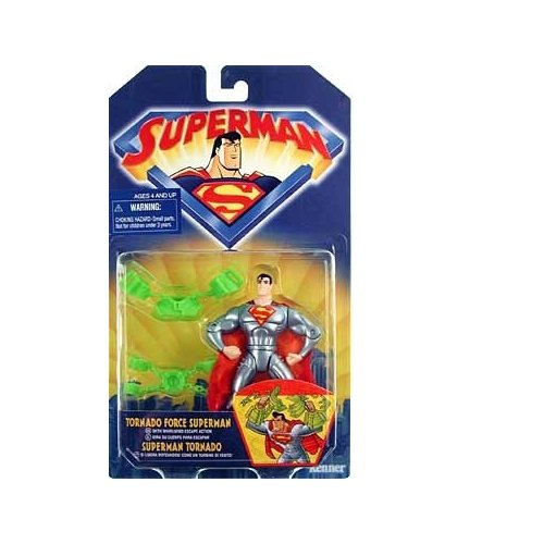 Superman the Animated Series Tornado Force Superman Action Figure - 1
