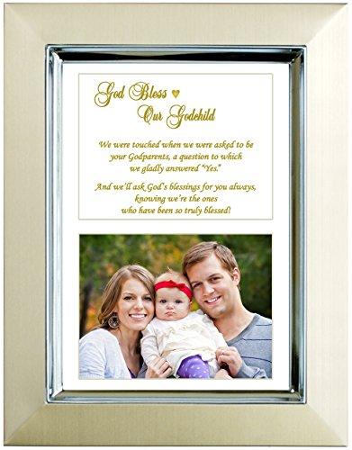 Godson or Goddaughter Gift From Godparents - Baptism or Christening - Add Photo