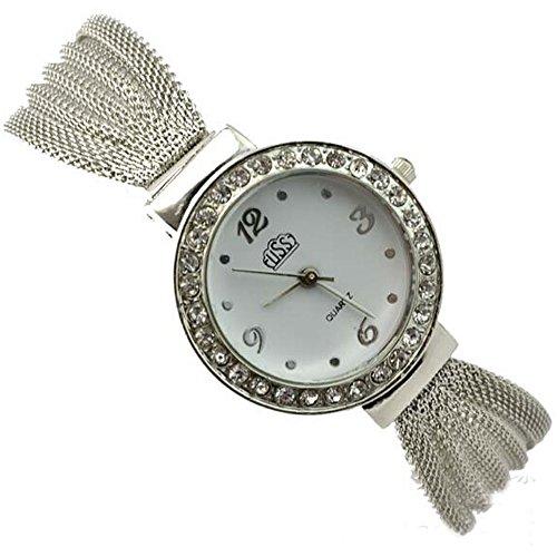 R-timer Frauen Grils Fashion Silber-Armband-Uhren runden Zifferblatt Wristwatcheses