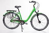 "28"" Zoll Alu Damen Fahrrad City Bike Shimano Nexus 7 Gang Nabendynamo LED green"