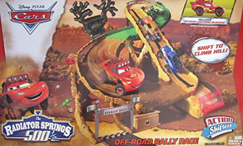 Disney/Pixar Cars Radiator Springs 500-1/2 Off Road Rally Race Action Shifters Connectable Playset w Off-Road Lightening McQueen Vehicle (Color Shifters Disney Cars compare prices)