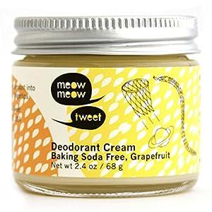 Meow Meow Tweet - Deodorant Cream Baking Soda Free Grapefruit - 2.4 oz.