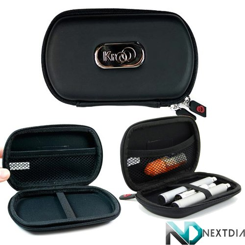 Black Universal Vape Carrying Case For Fantasia Rechargeable Electronic Hookah | Portable And Pocket Sized* + Nextdia Cable Tie