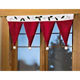 Christmas Santa Hat Window Valance