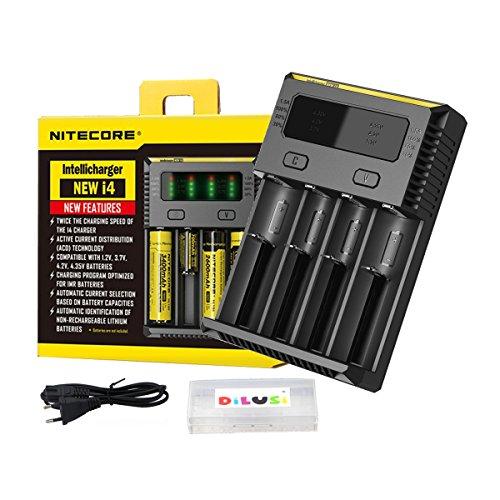 Nitecore I4 EU 2016 intelligente i4 18650 Li-ion / Ni-MH / Ni-Cd Chargeur de batterie